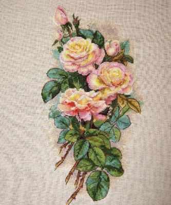 К-67А Винтажные розы (Мережка) - Наборы для вышивания «Мережка»