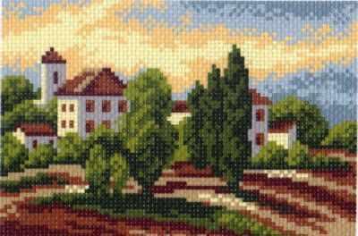 южный городок рисунок на канве 16 20 16х20 11х16 матренин посад 517 Основа для вышивания с нанесённым рисунком Матрёнин Посад 517 Южный городок - рисунок на канве (МП)