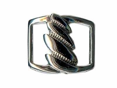 Швейная фурнитура Micron GB 1275 Шлевка 30 х 25 мм №06 черный никель