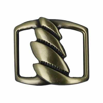Швейная фурнитура Micron GB 1275 Шлевка Micron 30 х 25 мм №12 шлифованная бронза
