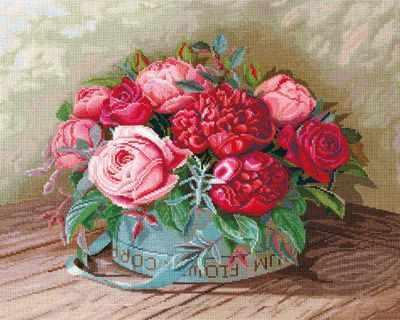 Фото - Набор для вышивания Сделай своими руками П-36 Пионы и розы розы и пионы
