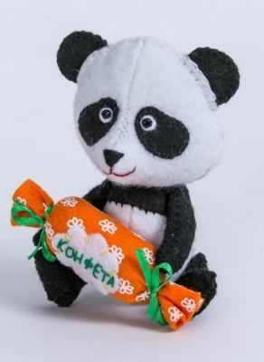 Набор для изготовления изделий из фетра Перловка ПФД-1057 Панда - игрушка (Перловка)