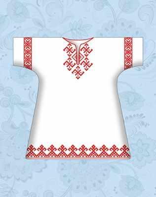 КР-01 Сорочка детская крестильная х/б (Каролинка) - Вышиванки «Каролинка»