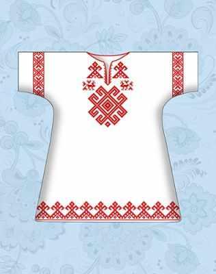 Заготовка для вышиванки Каролинка КР-02 Сорочка детская крестильная х/б (Каролинка)