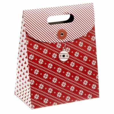 Фото - Подарочный конверт - 1313106 Пакет с клапаном Новогодний узор пакет подарочный новогодние игрушки 23 15 см