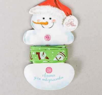 Ленты Арт Узор 2353136 Лента подарочная репс Веселые снеговики лента репсовая 20 мм красная цена за 1 м