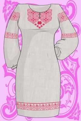Заготовка для вышиванки Каролинка КБПН/лен/-08 Набор для вышивки платья