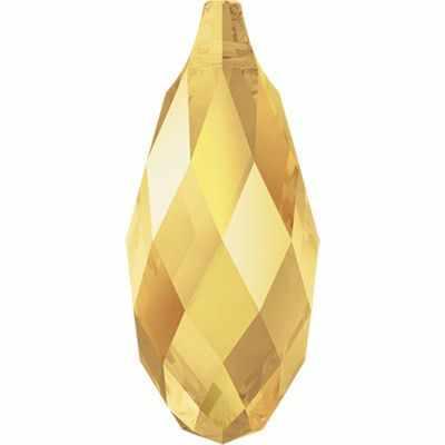 """6010 Подвеска Crystal """"Сваровски"""" 13 х 6.5 мм ,золотистый металлик (001 METSH)"""
