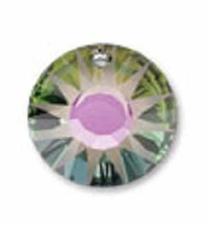 6724 Подвеска Crystal Сваровски 12 мм,фиолетово-зеленый (001 PARSH)
