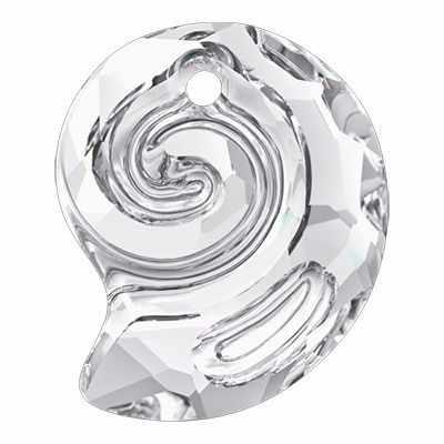6731 Подвеска Crystal Сваровски 14х11,5 мм, белый (Crystal)