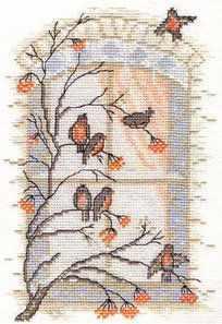 03.012.03 Рябиновый десерт (МИ) - Наборы для вышивания «Марья Искусница»