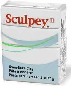 Sculpey III полимерная глина S302 001 белый