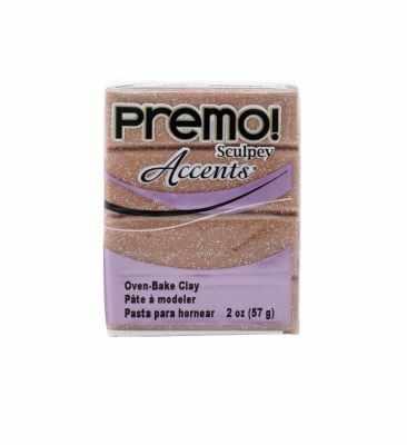 Sculpey Premo полимерная глина PE02 5135 розовый глиттер