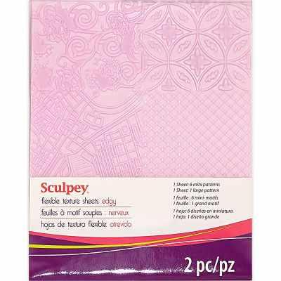 ASTM009 Edgy  Sculpey  Texture Sheet текстурные листы - Инструменты для лепки из полимерной глины