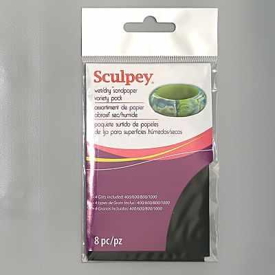 AS2010  Sculpey  Wet/dry sandpaper variety pack набор шлифовальной бумаги - Инструменты для лепки из полимерной глины