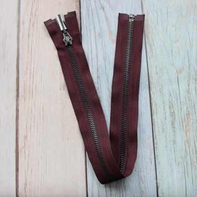 GM-751 Молния металл 40 см оксид (черный никель), однозамковые, цвет т.бордовый №175