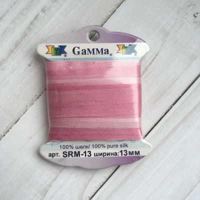 Фото - Ленты Gamma SRM-13 Лента декоративная Gamma шелковая M037 розовый/т.розовый ленты gamma srm 4 4 мм лента декоративная gamma шелковая m104 т розовый т красный