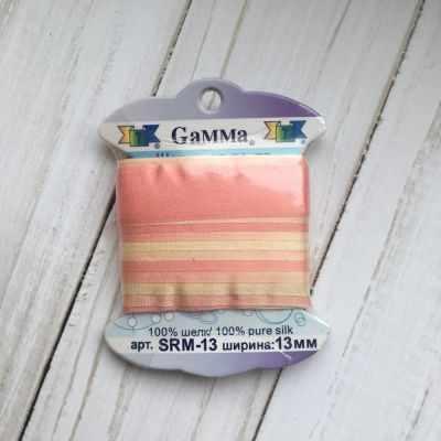 Фото - Ленты Gamma SRM-13 Лента декоративная Gamma шелковая M101 св. розовый/св.желтый ленты gamma srm 13 лента декоративная gamma шелковая m042 св зеленый зеленый