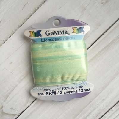 Фото - Ленты Gamma SRM-13 Лента декоративная Gamma шелковая M102 бл.салатовый/бл.желтый ленты gamma srm 13 лента декоративная gamma шелковая m042 св зеленый зеленый