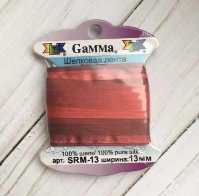 Фото - Ленты Gamma SRM-13 Лента декоративная Gamma шелковая M104 т.розовый/т.красный ленты gamma srm 4 4 мм лента декоративная gamma шелковая m104 т розовый т красный