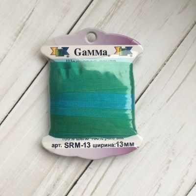 Ленты Gamma SRM-13 Лента декоративная Gamma шелковая M110 бирюзовый/зеленый ленты gamma srm 13 лента декоративная gamma шелковая m108 зеленый св коричневый
