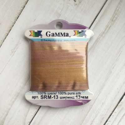 Фото - Ленты Gamma SRM-13 Лента декоративная Gamma шелковая M112 бронзовый/бл.коричневый ленты gamma srm 4 4 мм лента декоративная gamma шелковая m104 т розовый т красный