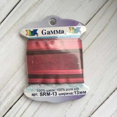 Фото - Ленты Gamma SRM-13 Лента декоративная Gamma шелковая M116 гр.розовый/медный ленты gamma srm 4 4 мм лента декоративная gamma шелковая m104 т розовый т красный