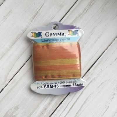Ленты Gamma SRM-13 Лента декоративная Gamma шелковая M119 рыжий/горчичный ленты gamma srm 13 лента декоративная gamma шелковая m108 зеленый св коричневый