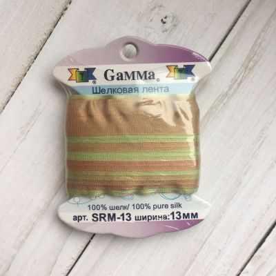 Ленты Gamma SRM-13 Лента декоративная Gamma шелковая M123 фисташковый/св.коричневый ленты gamma srm 13 лента декоративная gamma шелковая m108 зеленый св коричневый
