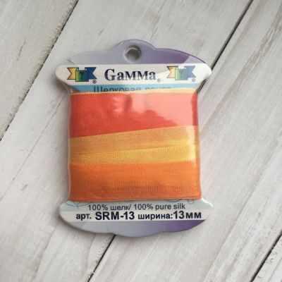 Ленты Gamma SRM-13 Лента декоративная Gamma шелковая M232 желтый/красный платье oodji ultra цвет красный белый 14001071 13 46148 4512s размер xs 42 170