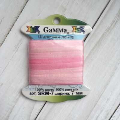 Фото - Ленты Gamma SRM-7 7 Лента декоративная Gamma шелковая M008 бл.розовый/розовый ленты gamma srm 7 7 лента декоративная gamma шелковая m109 ментол зеленый