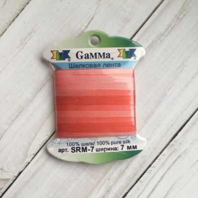 Фото - Ленты Gamma SRM-7 7 Лента декоративная Gamma шелковая M046 розовый/красный ленты gamma srm 4 4 мм лента декоративная gamma шелковая m104 т розовый т красный