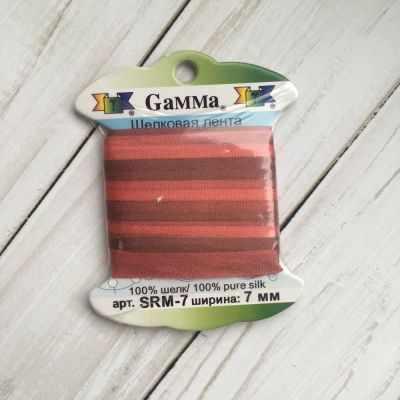 Фото - Ленты Gamma SRM-7 7 Лента декоративная Gamma шелковая M104 т.розовый/т.красный ленты gamma srm 4 4 мм лента декоративная gamma шелковая m104 т розовый т красный