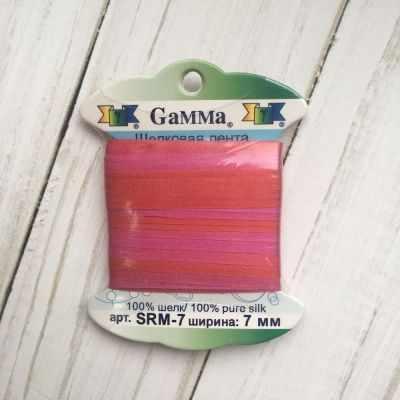 Фото - Ленты Gamma SRM-7 7 Лента декоративная Gamma шелковая M105 т.красный/сиреневый ленты gamma srm 4 4 мм лента декоративная gamma шелковая m104 т розовый т красный