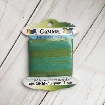 Ленты Gamma SRM-7 7 Лента декоративная Gamma шелковая M109 ментол/зеленый ленты gamma srm 7 7 лента декоративная gamma шелковая m136 яр оранжевый коричневый