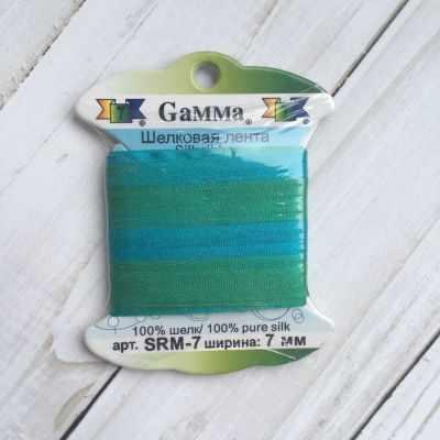 Ленты Gamma SRM-7 7 Лента декоративная Gamma шелковая M110 бирюзовый/зеленый ленты gamma srm 7 7 лента декоративная gamma шелковая m136 яр оранжевый коричневый
