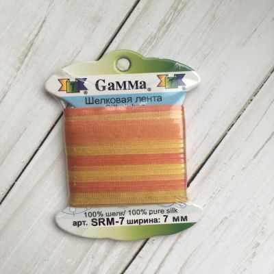 Ленты Gamma SRM-7 7 Лента декоративная Gamma шелковая M119 рыжий/горчичный ленты gamma srm 7 7 лента декоративная gamma шелковая m136 яр оранжевый коричневый