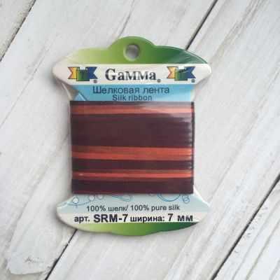 Фото - Ленты Gamma SRM-7 7 Лента декоративная Gamma шелковая M120 красный/т.бордовый ленты gamma srm 7 7 лента декоративная gamma шелковая m109 ментол зеленый
