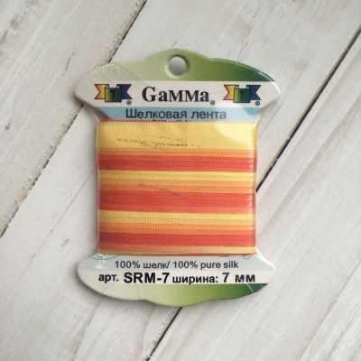 Фото - Ленты Gamma SRM-7 7 Лента декоративная Gamma шелковая M232 желтый/красный ленты gamma srm 4 4 мм лента декоративная gamma шелковая m104 т розовый т красный
