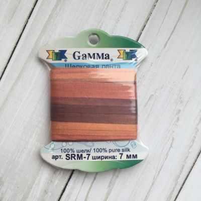 Ленты Gamma SRM-7 7 Лента декоративная Gamma шелковая M240 оранжевый/бордовый ленты gamma srm 7 7 лента декоративная gamma шелковая m136 яр оранжевый коричневый