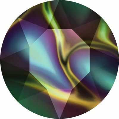 Стразы SWAROVSKI 1088 SS39 Сваровски Crystal AB 8.16 мм, т.радужный (rainbow dark RABDK)