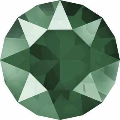 1088 SS39 Стразы  Сваровски  Crystal AB 8.16 мм, зеленый лак. (royal green L109S) - Стразы для изготовления бижутерии