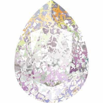 4320 Cтразы Сваровски Crystal AB 18 х 13 мм, патина (001 WHIPA)