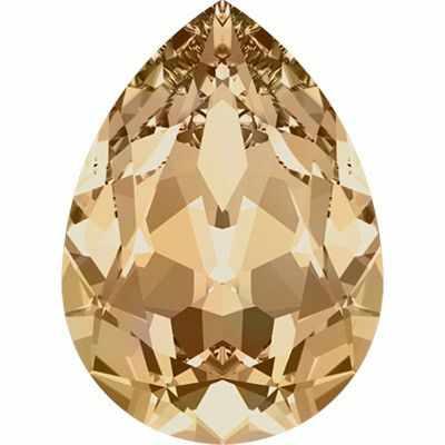4320 Cтразы Сваровски Crystal AB 18 х 13 мм, св.золото (001 GSHA)