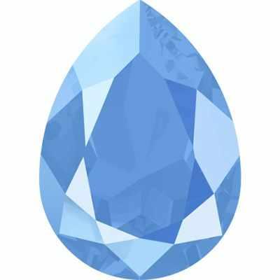4320 Стразы Сваровски 18 х 13 мм, голубой лак. (summer blue L114S)
