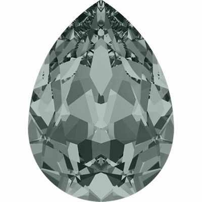 4320 Стразы Сваровски 18 х 13 мм, св.серый (black diamond 215)