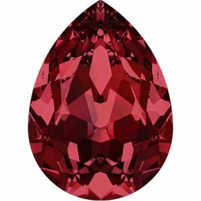 4320 Стразы Сваровски 18 х 13 мм, т.красный (siam 208)