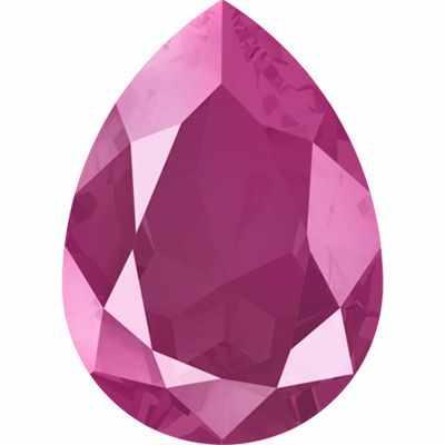 4320 Стразы Сваровски 18 х 13 мм, т.розовый лак. (peony pink L113S)
