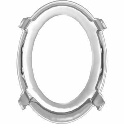 4320/S Оправа для страз Сваровски 18 х 13 мм, под серебро (1PH2OH)