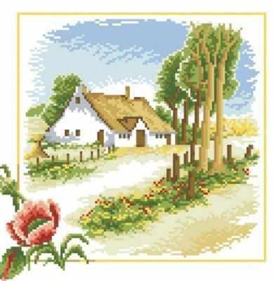 106-ST Жаркий июль (Белоснежка) - Мозаика «Белоснежка»